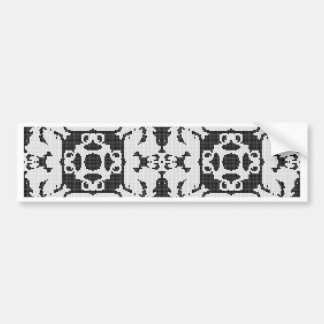 Lace curtain texture bumper sticker