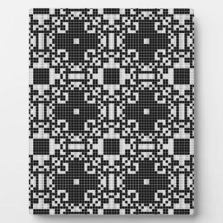 Lace curtain texture plaque