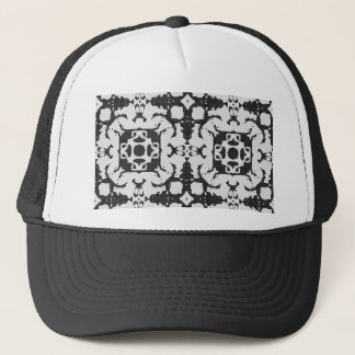 Lace curtain texture trucker hat