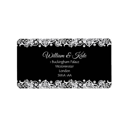 Lace custom Wedding return address labels