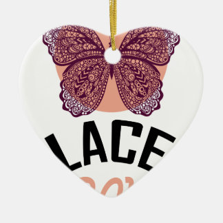 Lace Day - Appreciation Day Ceramic Ornament