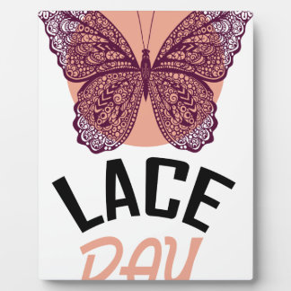 Lace Day - Appreciation Day Photo Plaque