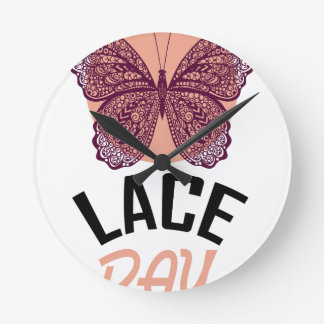 Lace Day - Appreciation Day Round Clock