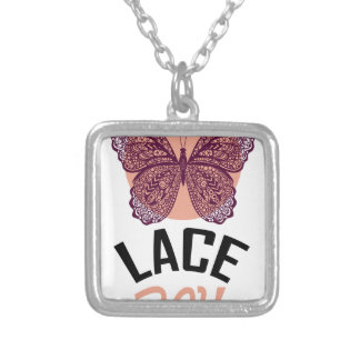 Lace Day - Appreciation Day Silver Plated Necklace