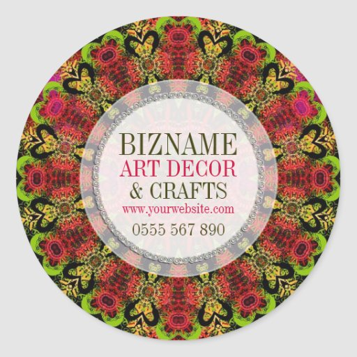 Lace Decor & Crafts Business Product Sticker