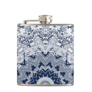 Lace decoration hip flask