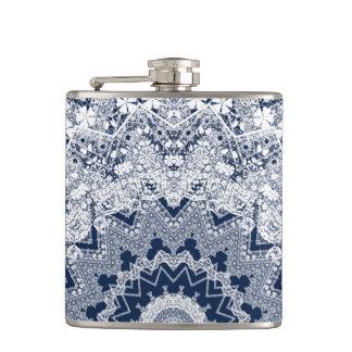 Lace decoration hip flask