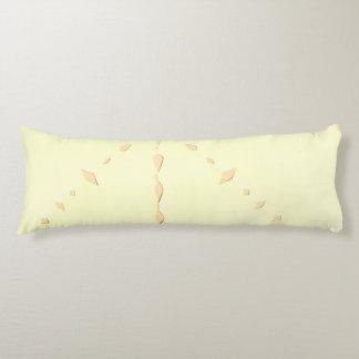 Lace design yellow pillow. body cushion