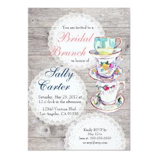 Lace Doilies & Teacups Bridal Brunch Invitation