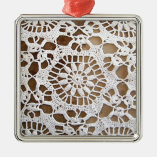 Lace Doily Photo Metal Ornament