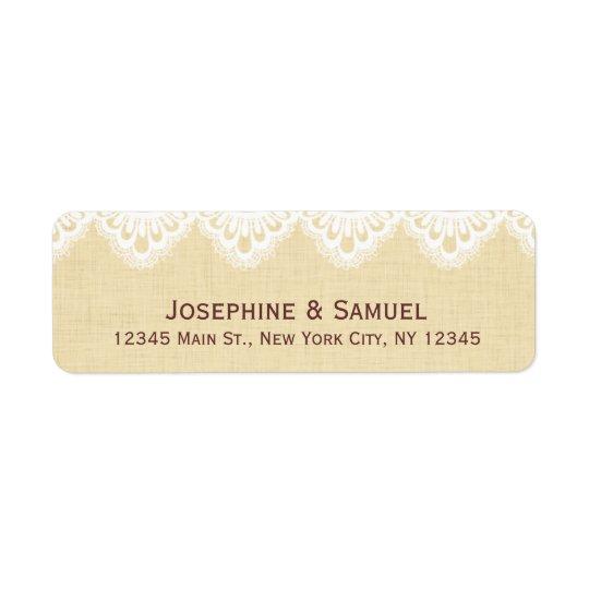 Lace Doily Rustic Wedding Address Return Address Label