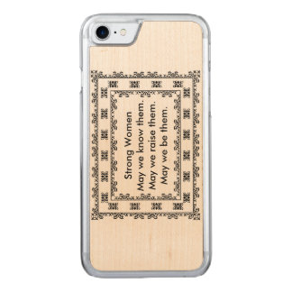Lace Doily with Text Regarding Strong Women Carved iPhone 8/7 Case