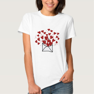 Lace envelope filled with hearts shirt