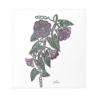 Lace Flowers Notepad