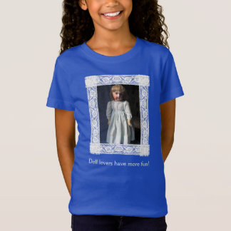 Lace Framed Girls Antique Belton Doll T-Shirt r