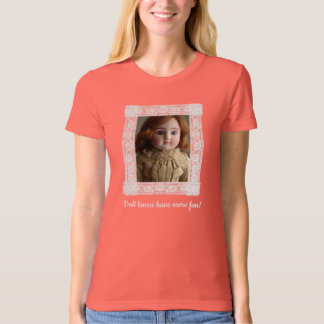 Lace Framed Steiner Doll Organic T-Shirt r