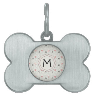Lace Gears Pattern With Initial Pet Tag