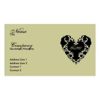 Lace Heart Profile/Business Card Pack Of Standard Business Cards