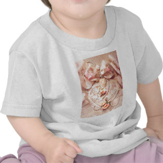 LACE HEART, ROSES & PEARLS by SHARON SHARPE T-shirts