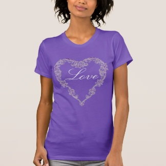 Lace Heart T Shirts