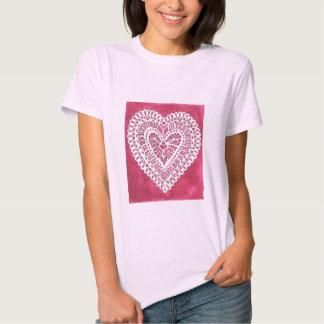 Lace Heart T-shirts