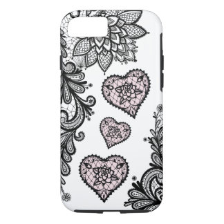 (lace & hearts) iPhone 8/7 case