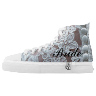 "Lace Illusion ""Bride"" Sneaker Printed Shoes"