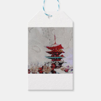 Lace Japanese Pagoda Gift Wrapping Series Gift Tags