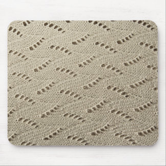 Lace knit fabric mouse pad