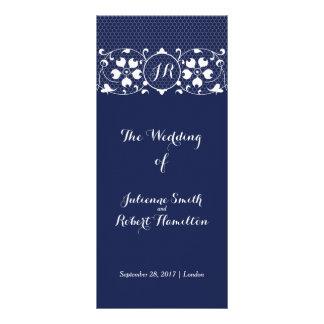 Lace Love | Monogram Wedding Program Rack Card