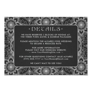 Lace Mandala Wedding Details Cards