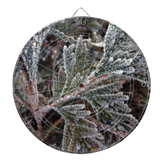 Lace on twigs dartboard with darts