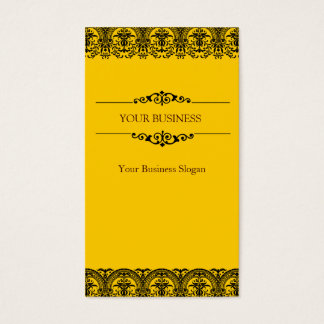 Lace Ornate Damask Business Card Design