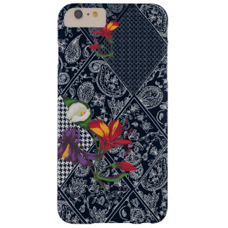 Lace, paisley and pied-de-poule, houndstooth barely there iPhone 6 plus case