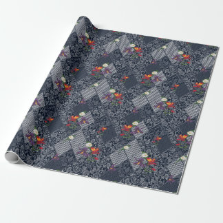 Lace, paisley and pied-de-poule, houndstooth wrapping paper