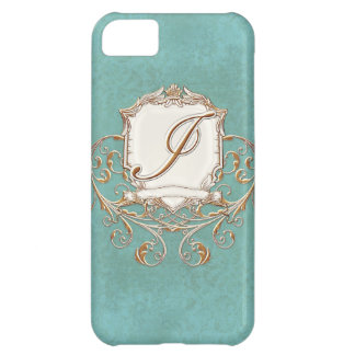 Lace Parchment Baroque Swirl Monogrammed Initial I iPhone 5C Case