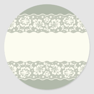 Lace pattern, flower vintage 5 classic round sticker