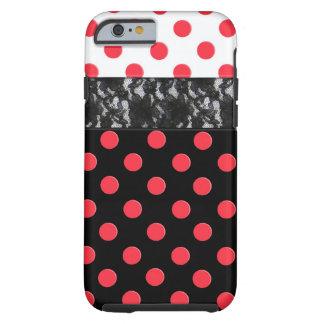 Lace Polka Dot Tough iPhone 6 Case