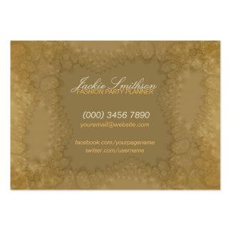 Lace Romance w Logo big Business Card
