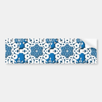 Lace snowflake 4 bumper sticker