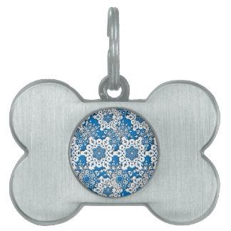 Lace snowflake 4 pet ID tag