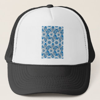 Lace snowflake 4 trucker hat