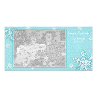 Lace Snowflakes Holiday Photo Card Template