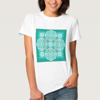 Lace Traces~Shades of Jade Tees