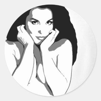 Lace-Up Panties Round Sticker