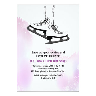 Lace Up Your Skates Invitation (White)