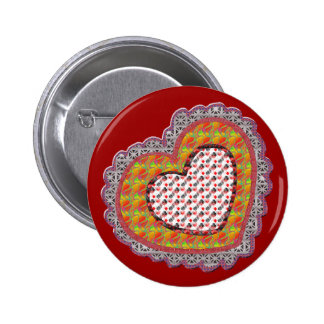 Lace Valentine T-shirts and Gifts 6 Cm Round Badge