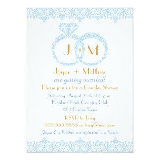 Lace Wedding Rings Invitation