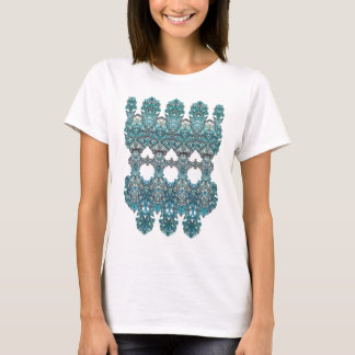 laced romantic turquoise ornament arabesque T-Shirt