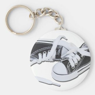 LacedTennisShoes032112.png Basic Round Button Key Ring